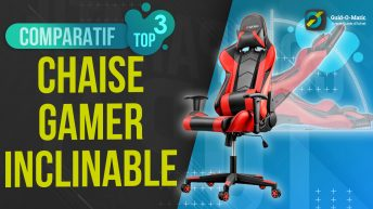 Chaise gamer inclinable